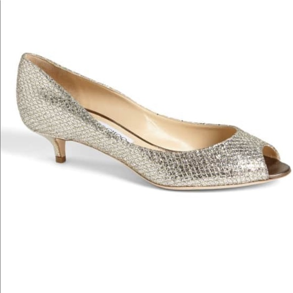 721af41d3a9e Jimmy Choo Shoes | Glitter Champagne 38 Caitlin | Poshmark